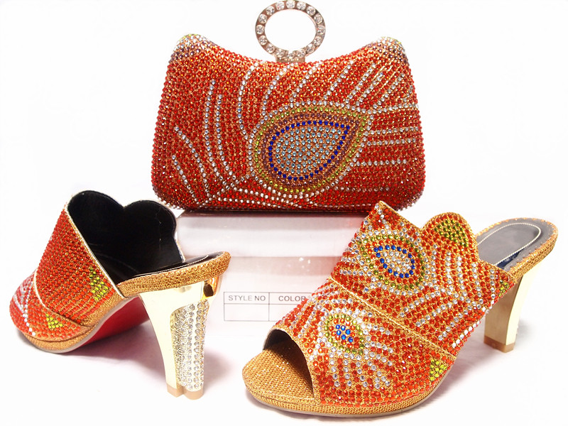 2017 Shoes and Bag Set for Women Summer African Style italian Shoes and Bag Set for party doershow african shoes and bags fashion italian matching shoes and bag set nigerian high heels for wedding dress puw1 19