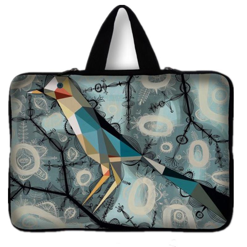 Waterproof Birds Print Laptop Sleeve Bag Notebook Case Women PC Handbag For iPad Macbook 7.9 9.7 11.6 13 14 15 15.6 17 inch #2