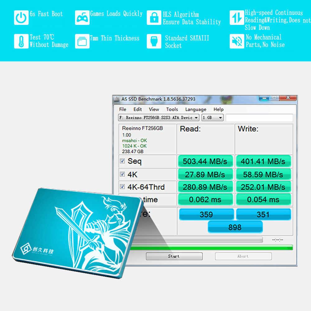 SSD SATA3 2.5inch 120GB 128GB 256GB 4 kênh Đọc/wirte tốc độ 510-460 MB/giây Ổ Cứng thể Rắn nhà máy trực tiếp Reeinno Thương Hiệu