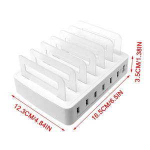 Image 3 - Smart USB Charger Quick Charging Station Dock 6 Port 2.4A Mobile Phone Tablets Multiple Devices Organizer Desktop Stand Power