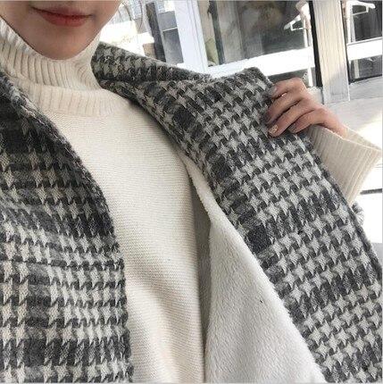 À D'agneau Modèles 1 Long Automne Épaississement Plus Velours 2 Et Plaid De Cheveux Harajuku Laine Style Vintage D'hiver Manteau IqYwwPT