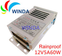 LED Display Rainproof Power Supply Output DC 12V 5A 60W Monitor Adapter For Led Strip Outdoor