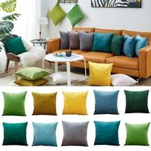 26 цветов, наволочка для подушки, бархатная наволочка для гостиной, дивана, 45*45, Kussenhoes, синяя, для дома, декоративная, для дома, для дома, Coussin