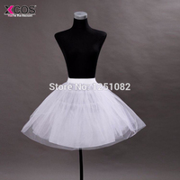 Free Shipping White Tulle Girls Petticoat Slip With No Hoop Short Underskirt Ball Gown Wedding Dress