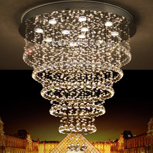 Modern Luster De Crystal Chandelier Large Cristal Lighting Fixtures Hotel Projects Staircase Lamps Restaurant Cottage Lights