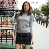 GCAROL New Arrival Women Turtlneck Sweater Twist Stretch Knitted Pullover Autumn Winter Thick Basic Knit Tops