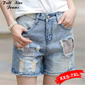 Washed Denim Shorts Oversize Hot Denim Shorts For  Women Plus Size Feminino Big Plus Size Xxxl 3Xl 36 38 40 Xxxxl 7XL