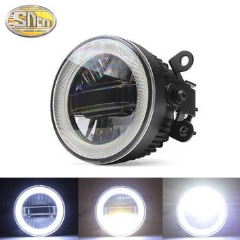 SNCN Safety Driving Car LED Angel Eyes Daytime Running Light Auto Bulb Fog Lamp For Ford EcoSport Falcon Transit Edge Explorer