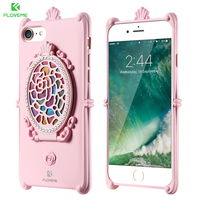 FLOVEME Case For IPhone 7 Glitter Diamonds Mirror Girly Coque Ultra Thin TPU Protective Back Cover