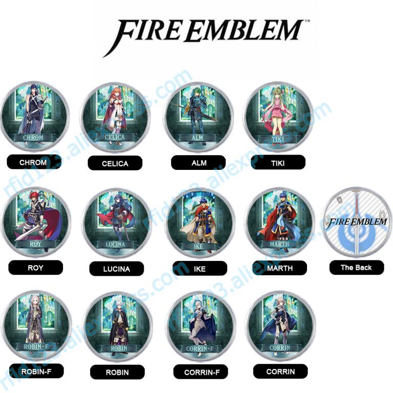 Amiibo Coin Tag Mini NFC Tag For Fire Emblem Corrin Lucina Ike Robin Full Set 12pcs