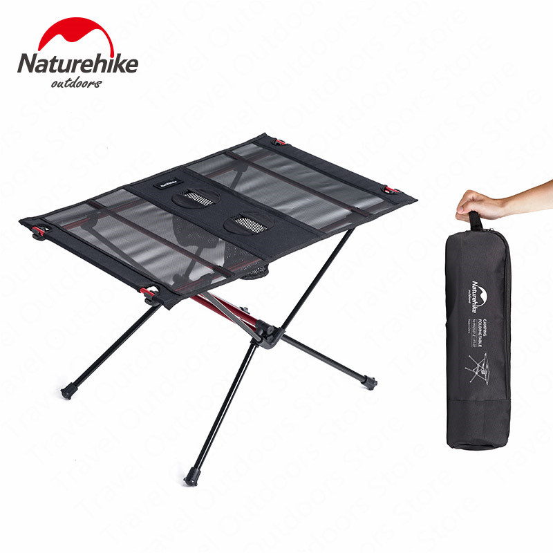Naturehike Camping Table Ultralight Nylon Wear Resistant Portable Foldable Camping Fishing Tourit Table With 2 Water Cup Bags