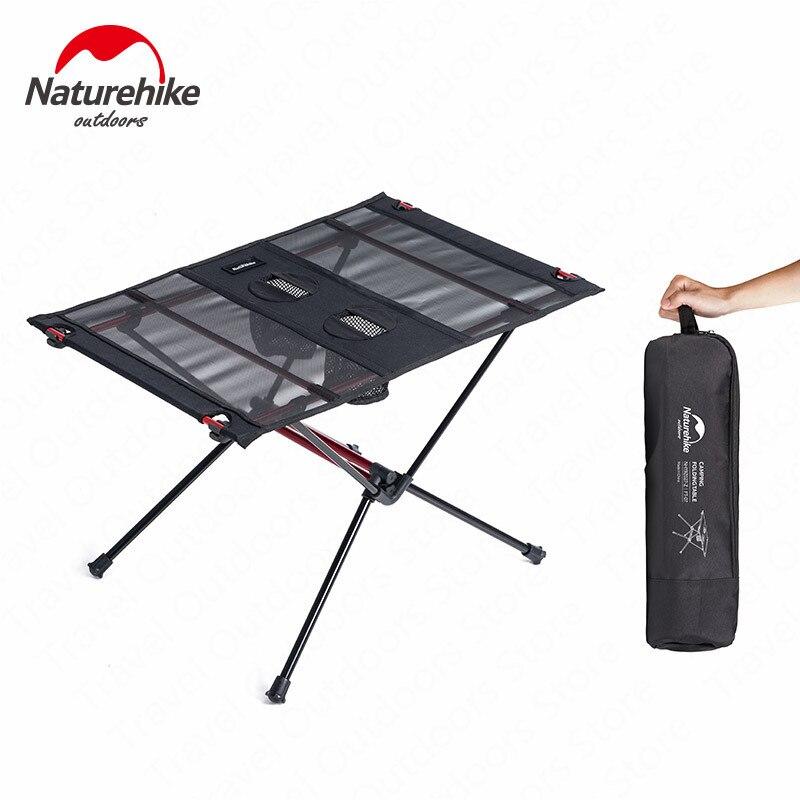 Naturehike Table De Camping Ultra-Léger En Nylon Résistant À L'usure Portable Pliable Camping Pêche Tourit Table Avec 2 Tasse D'eau Sacs