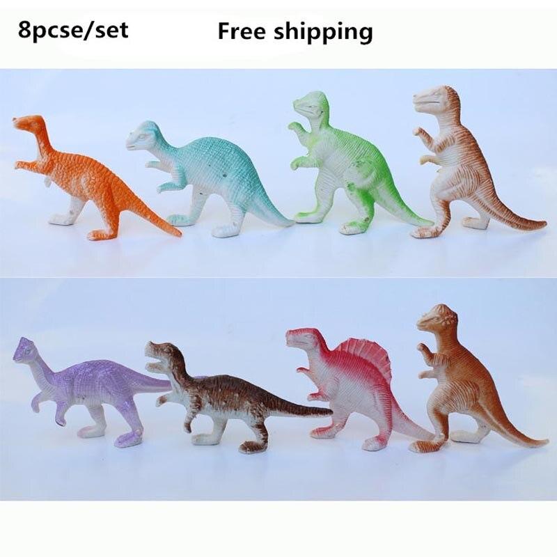 d4935ed86 8 pcsr/مجموعة البسيطة الديناصور الديناصور ريكس الأطفال تحدد اللعب الجودة  البلاستيك البرية ترسل لهم هدايا عيد