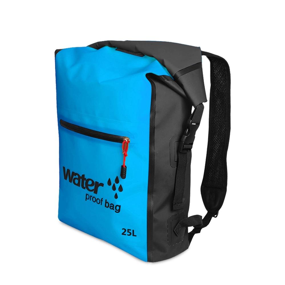 25L Outdoor Waterproof Dry Bag Roll Top Floating Backpack Swimming Bags Kayaking Rafting Boating River Trekking Swimming Bag