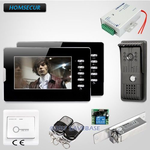 HOMSECUR 7 Wired Video Door Entry Security Intercom with Mute Mode for Good Night Sleep And Home Security+ Strike Lock