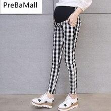 Fashion Belly Maternity Leggings Care Trousers For Pregnant Women Lattice High Waist Pregnancy Trouses Pants E0089