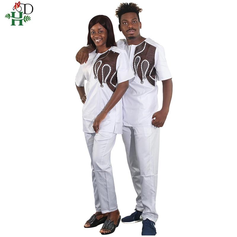 Robes africaines pour femmes et hommes vêtements de couple africain afrique Dashiki Couples coton polyester bazin 2019 vêtements africains