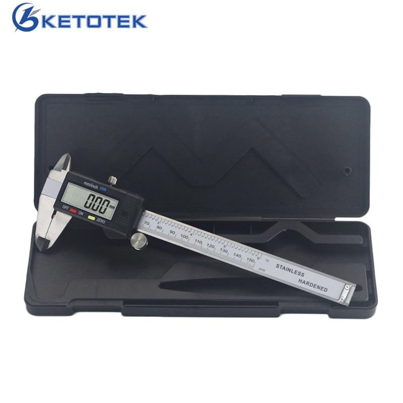 0-150mm Elektronische Digitale Messschieber Edelstahl Regel Gauge Mikrometer Paquimetro Messschieber LCD Messung Werkzeug