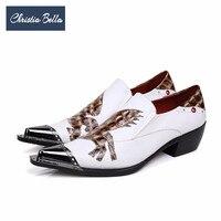 Christia Bella/Новая британская белая мужская обувь из натуральной кожи, визуально увеличивающая рост, Свадебная обувь для вечеринки, деловые муж