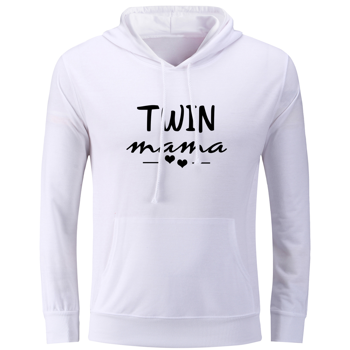 Funny Twin Mama Design Print Hoodies Women Autumn Early Winter Pullovers Sweatshirts for Lady Femme Cotton Hoody Tops Streetwear