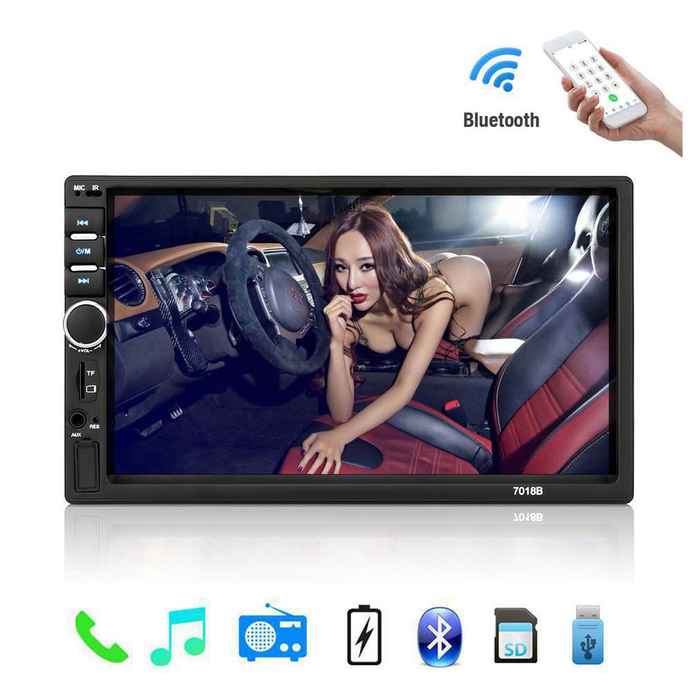 Auto <font><b>Radio</b></font> <font><b>2</b></font> <font><b>Din</b></font> General Car Models 7'' inch LCD Touch Screen Car <font><b>Radio</b></font> Player Bluetooth Car Audio Support Rear View Camera image