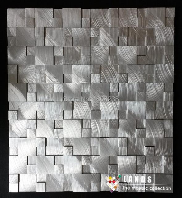 Sqaure Alumínio Metal Mosaico De Azulejos Da Cozinha Backsplash Telhas Da  Parede Do Banheiro Fundo Do