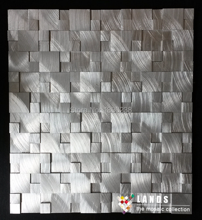 Sqaure Aluminum metal mosaic tile kitchen backsplash bathroom wall tiles cabinet background interior decor 3Dart sticker,LSALK04 ocean blue pearl shell mosaic tile gray natural marble kitchen backsplash sea shell tiles subway glass conch wall tiles lsbk53