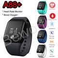 Smartband esportes smart watch heart rate monitor de oxigênio no sangue de fitness rastreador bluetoth relógio de pulseira à prova d' água para o telefone dos homens
