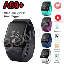 Спортивные Смарт Часы Heart Rate SmartBand крови кислородом монитор фитнес трекер Bluetoth Водонепроницаемый браслет для телефона мужские часы