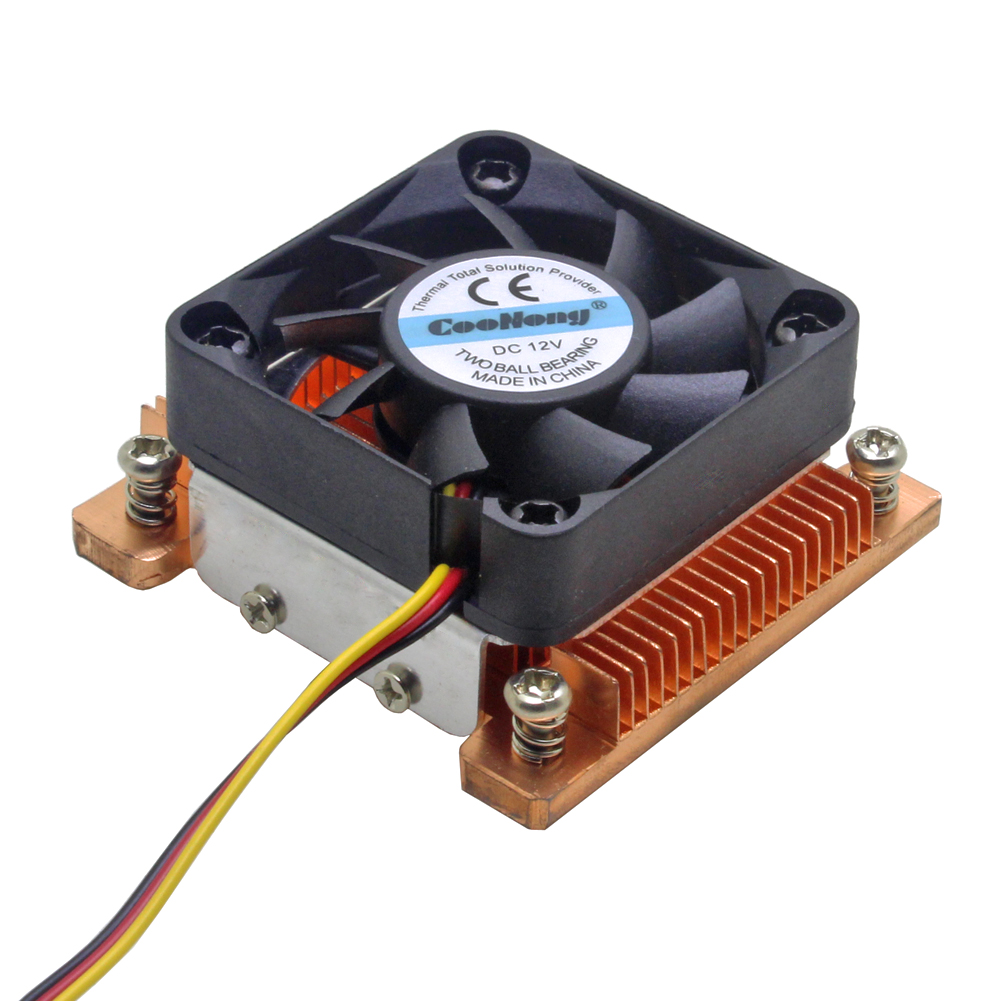 1U Server CPU Cooler Copper Heatsink Cooling Fan For Intel Pentium M PGA 478 BGA 479 Industrial Computer Active Cooling image