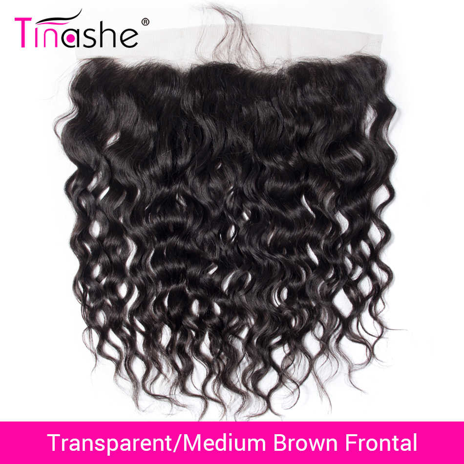 Tinashe Hair Transparent Lace Frontal Brazilian Water Wave Lace Frontal Remy Human Hair HD Swiss Lace Frontal Closure