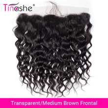 Tinashe Hair Closure Lace-Frontal Water-Wave Transparent Swiss Brazilian Remy HD