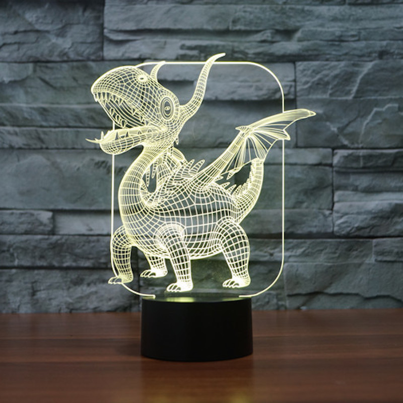 USB lamp Touch sensor pterosaurs 3D Visual Led Sleep Light Lamp Dinosaur 3d light for children