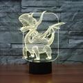 USB lamp Touch sensor pterosaurs 3D Visual Led Sleep Light Lamp Dinosaur 3d light for children 7 Colors Gradient home IY803508