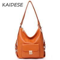 KAIDESE 2017 Fashion Institute wind leather, multi function, large capacity head layer cowhide handbag, casual shoulder bag