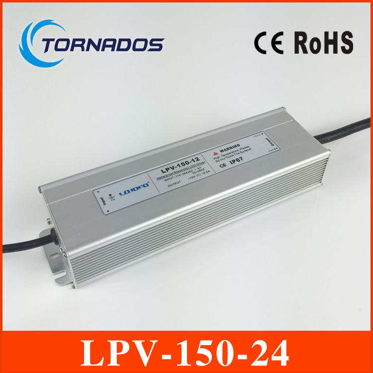 (LPV-150-24) Low noise ac-dc constant voltage 24v 150w waterproof power supply 24v led driver meanwell 24v 35w ul certificated lpv series ip67 waterproof power supply 90 264v ac to 24v dc
