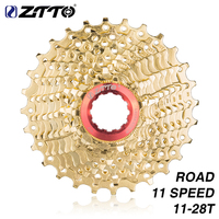 ZTTO Road Bike 11 S 28 T Gold Cassette 11 28T Golden Steel Freewheel 22 Speed