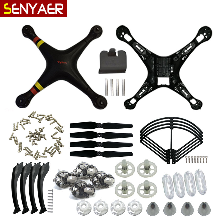 Replacement parts For SYMA X8/X8C/X8W/X8G Plastic Parts Main Body Shell Cover Screws And Gear Propeller Protective Frame ect. syma x8g quadcopter spare parts x8g 22 8mp hd camera or protective frame for syma x8c x8w x8g