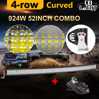 CO LICHT 924 Watt 12D 52 zoll Curved LED Light Bar Cree Chip Combo 12 V 24 V Auto Offroad Led Bar für Lada Jeep SUV ATV 4x4 Pickup Uaz
