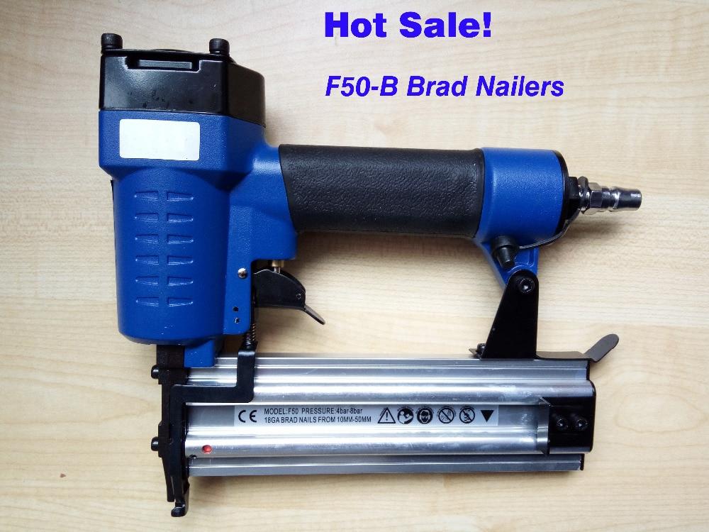 gwoździarka pneumatyczna F50-B gwoździarka pneumatyczna prosta, gwoździe proste, długość gwoździa: 10-50 mm 4-7BAR 60-110psi