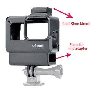 Image 2 - ללכת פרו Vlogging דיור מקרה מסגרת כיסוי עם קר נעל הר עבור GoPro גיבור 7 6 5 כדי Rode Videomico boya BY MM1 מיקרופון