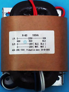 220V 100W R Core Transformer Output:20V+20V