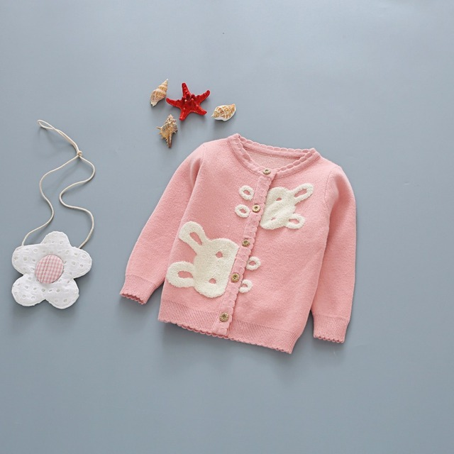 aad066ae2957 kids girls sweaters baby o neck long sleeve cartoon rabbit pattern ...