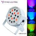 12 шт./лот LED Fat Par 18X3W Led wash Light RGB 3IN1 сценическая световая установка диджея DMX Led Par Party Lights