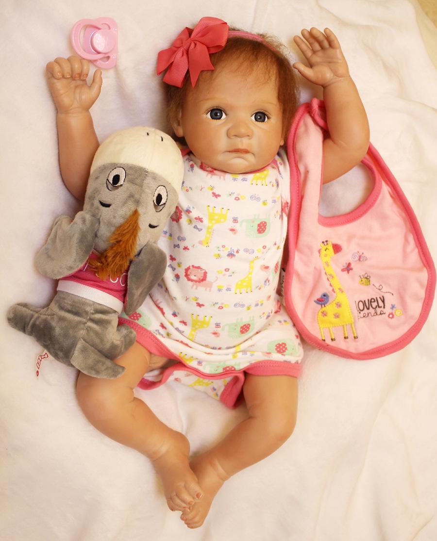 Handmade Lifelike Baby Girl Doll 20 Silicone Vinyl Reborn Newborn Dolls+ClothesHandmade Lifelike Baby Girl Doll 20 Silicone Vinyl Reborn Newborn Dolls+Clothes