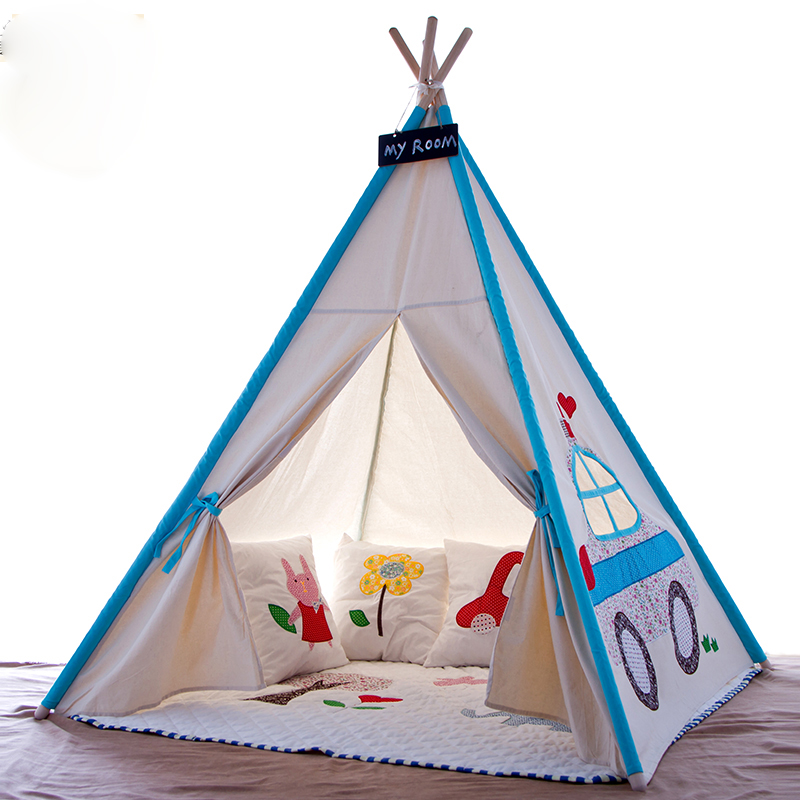 Kids Teepee Play Tent 100% cotton Canvas indoor or outdoor Playhouse kids playhouse-in Toy Tents from Toys u0026 Hobbies on Aliexpress.com | Alibaba Group  sc 1 st  AliExpress.com & Kids Teepee Play Tent 100% cotton Canvas indoor or outdoor ...