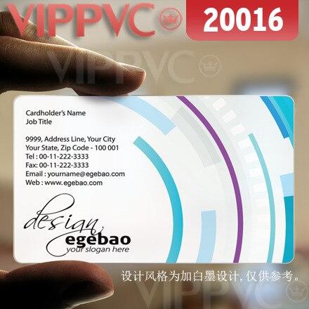 20016 best business card designs - matte faces transparent card thin 0.36mm