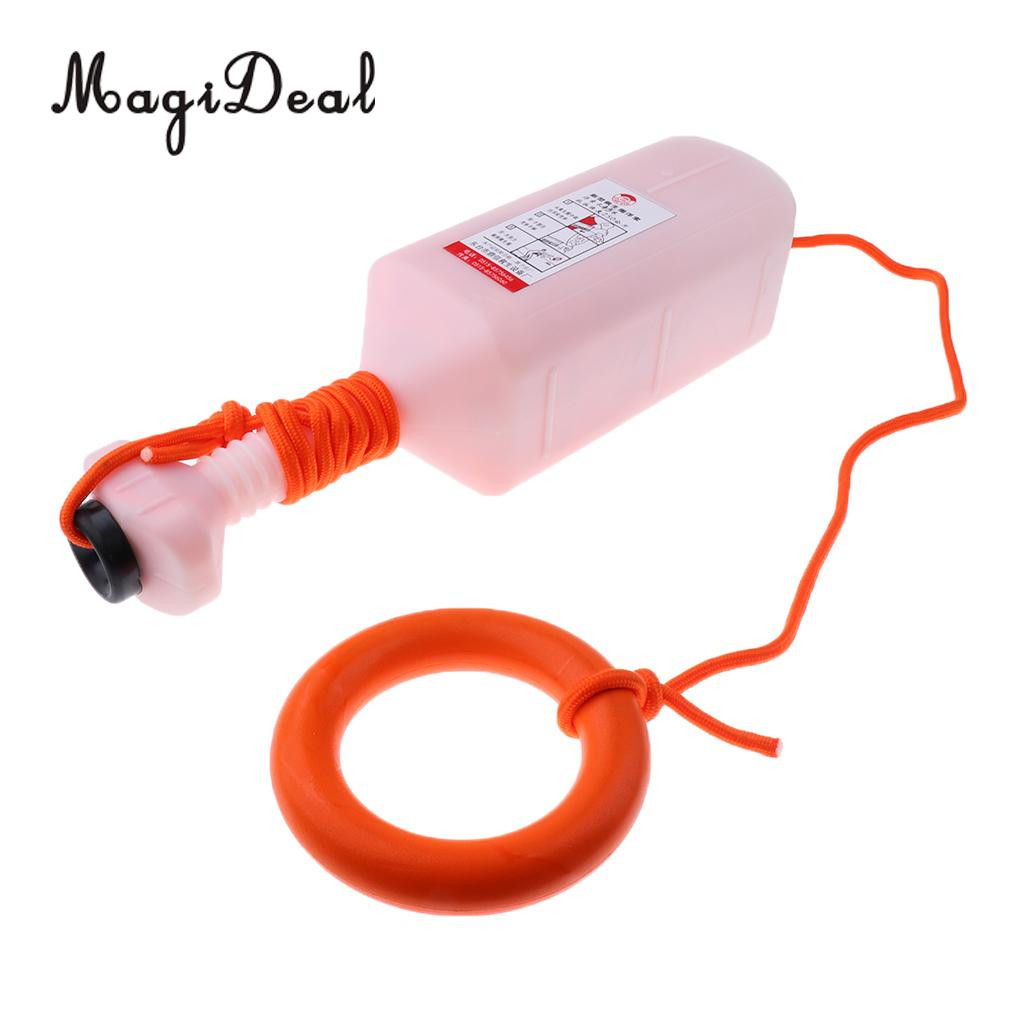 MagiDeal Heavy Duty Boat Water Buoyant Swimming Pool Life Saving 8mm 30m/45m Rescue Line Rope Case /& Floating Ring/Safety Hook ...