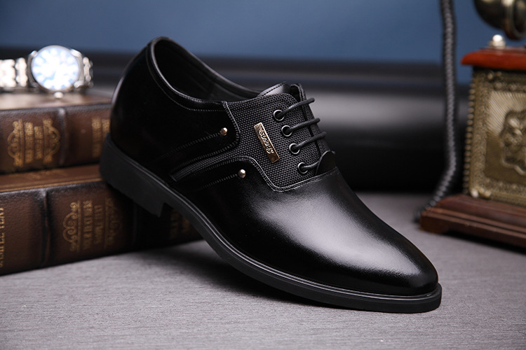 NPEZKGC Men Dress Shoes Slip-on Black Oxford Shoes For Men Flats Leather Fashion Men Shoes Breathable Comfortable Zapatos Hombre 10