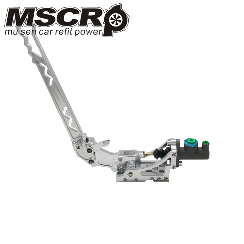 Image 2 - Universal Adjustable Aluminum Vertical Hydraulic Drifting Hand Brake With Special Master Cylinder S14 S13 silver-in Hand Brake from Automobiles & Motorcycles